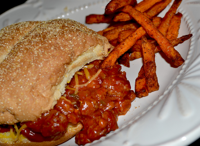 Sloppy Joe Sandwich & Sweet Potatoe Fries - 650.jpg