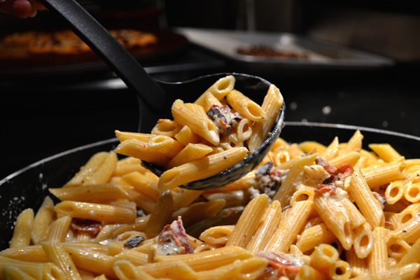 Penne With Creamy Bacon Sauce Pasta Ready To Eat